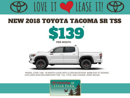 New 2018 Tacoma TSS