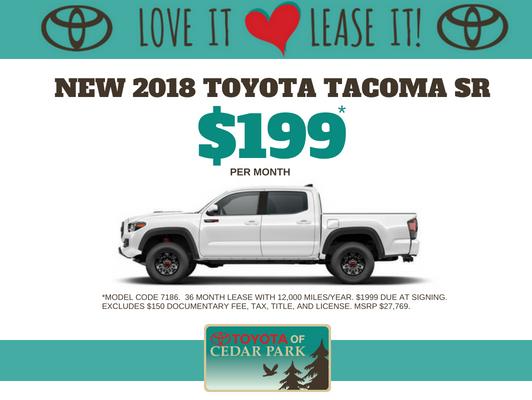 New 2018 Tacoma SR