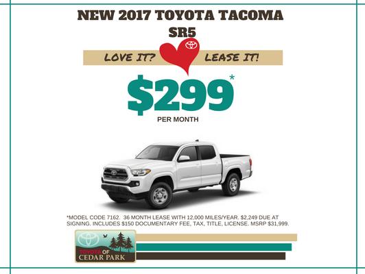 New 2017 Tacoma SR5