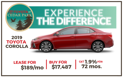 New 2019 Corolla L