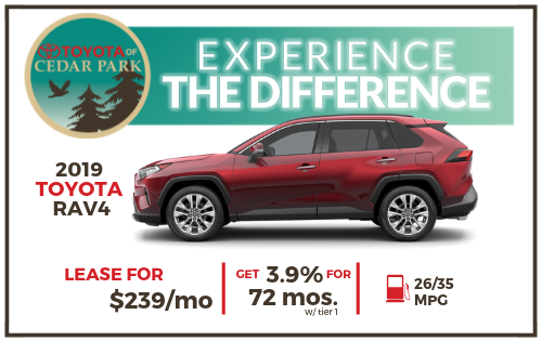 2019 Toyota RAV4 Offer, Lease $239/Mo. or 3.9% For 72 Months