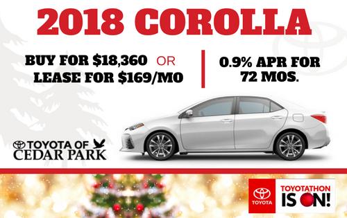 New 2018 Corolla LE