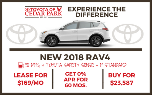 New 2018 Rav4 LE