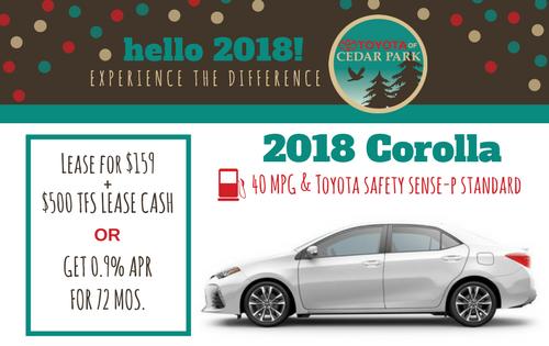 New 2018 Corolla L