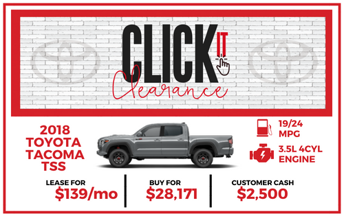 2018 Tacoma SR TSS Double Cab Special Edition
