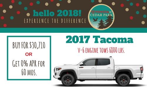2017 Tacoma SR5 - Double Cab 4x2