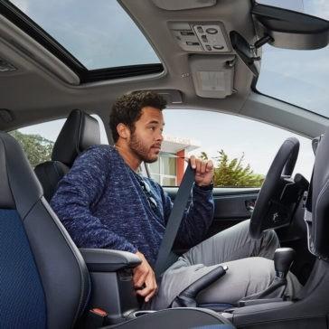 2018 Toyota Corolla interior cabin with driver