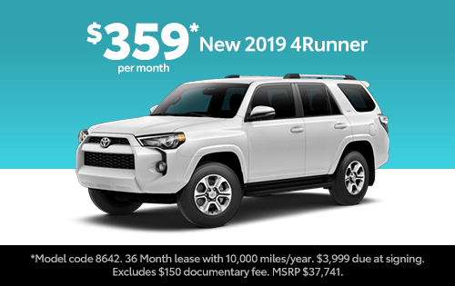 New 2019 4Runner SR5