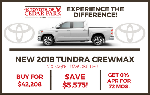 2018 Tundra 4WD SR5 CrewMax 5.5' Bed 4.6L Special Edition
