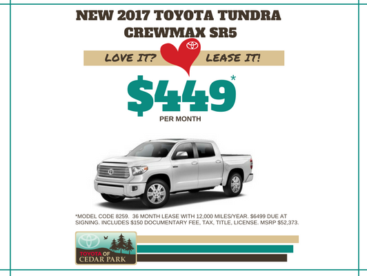 New 2017 Tundra CrewMax