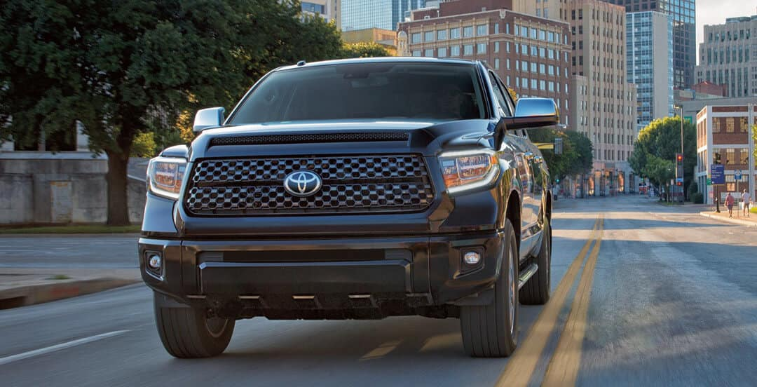 2018 Toyota Tundra on road