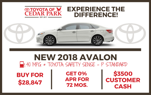 New 2018 Avalon XLE V6