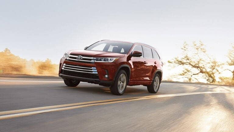 2018 Toyota Highlander on road