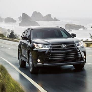 2018 Toyota Highlander front fascia