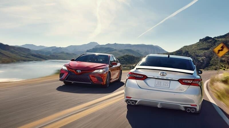 2018 Toyota Camry on road