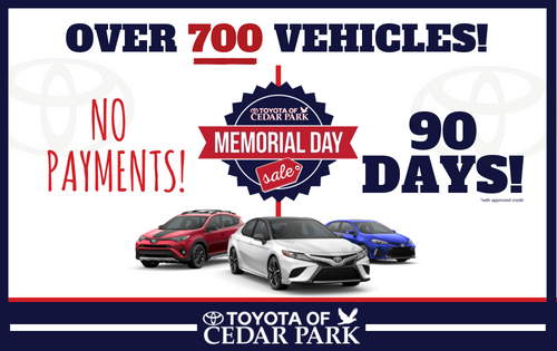No Payments for 90 Days on Any NEW Toyota!