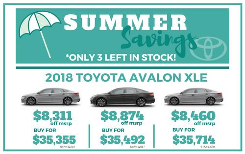 New 2018 Avalon XLE V6