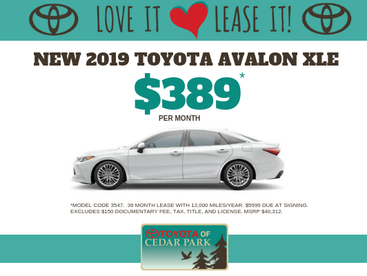 New 2019 Avalon XSE