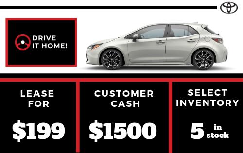 New 2019 Corolla Hatchback