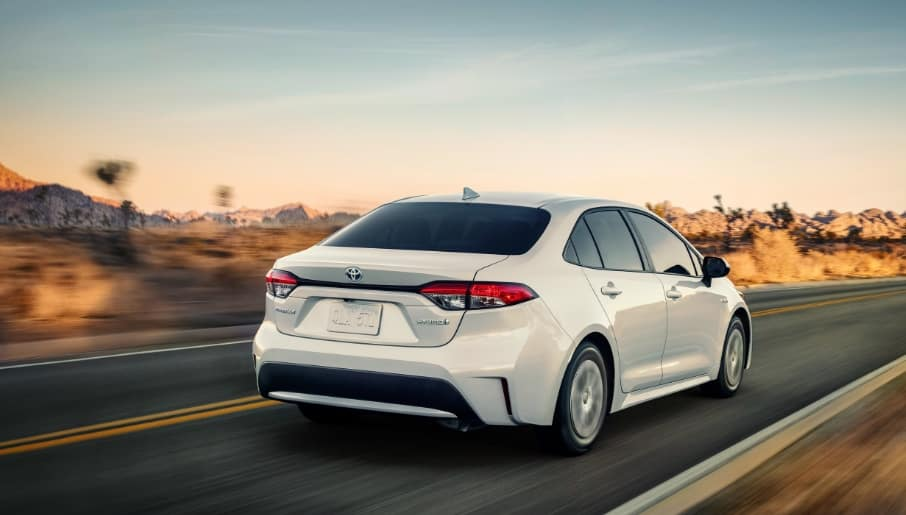 New 2020 Toyota Corolla on Highway