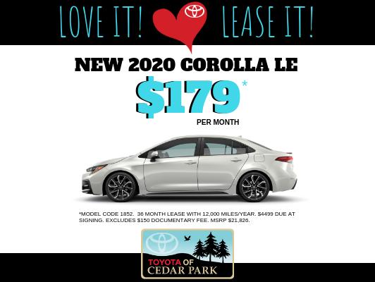 Toyota Lease Deals >> Toyota Lease Deals In Cedar Park