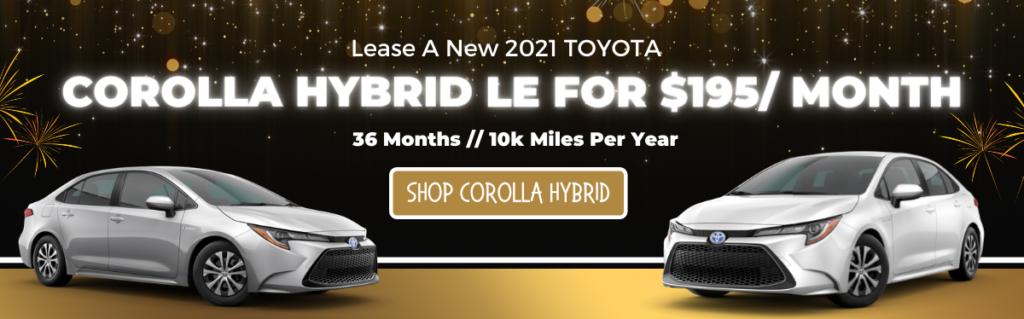 JAN. 2021 Corolla Hybrid HP Banner