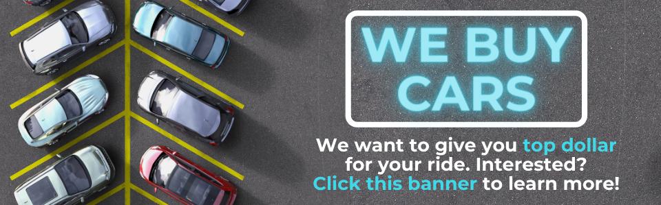 We Buy Cars! HP Banner