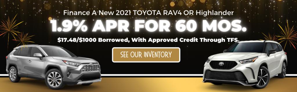 JAN. 2021 RAV4:Highlander HP Banner