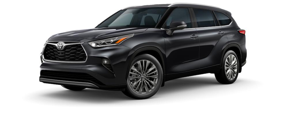 2021 Black Toyota Highlander