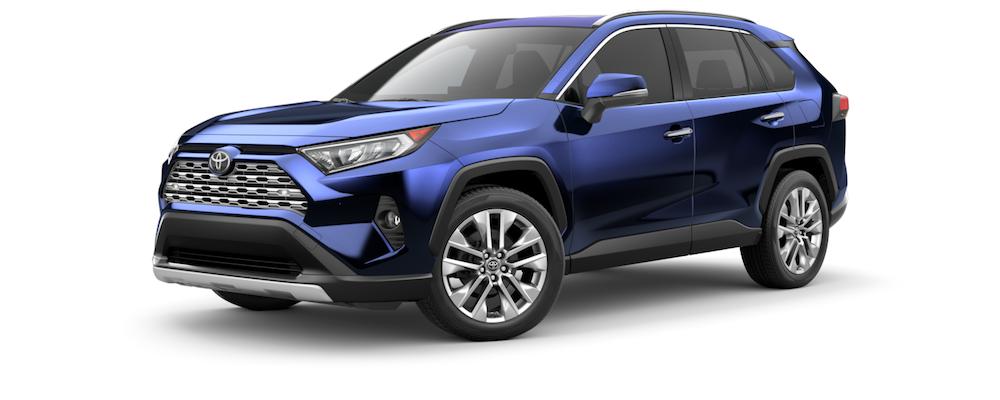 2021 Blue Toyota RAV4