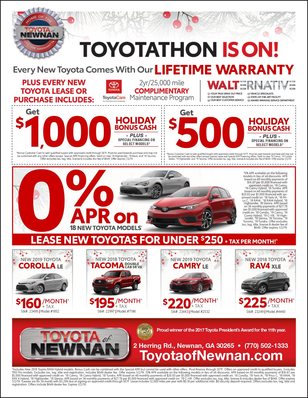 Why Buy now at Toyota of Newnan during Toyotathon!