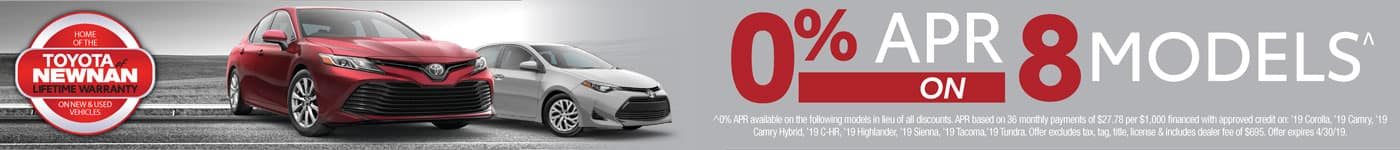 0% APR on 8 models