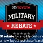 Toyota of Newnan Military Rebate