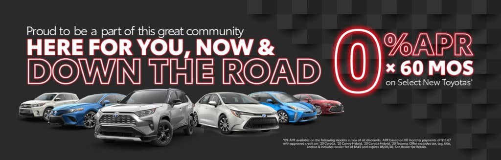 90 Day Deferred Payments on All New Toyotas or 0% APR on Select New Toyotas