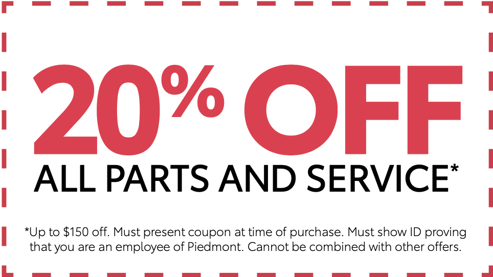 20% Off All Parts & Service