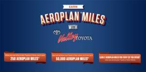 Earn Aeroplan Miles With Valley Toyota