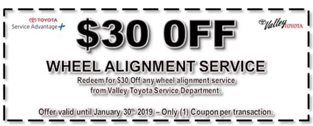 $30 off Wheel Alignment Service