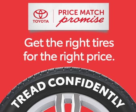 Toyota Price Match Promise on Tires