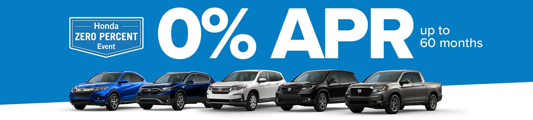 Honda Zero Percent Event - 0% APR up to 60 months