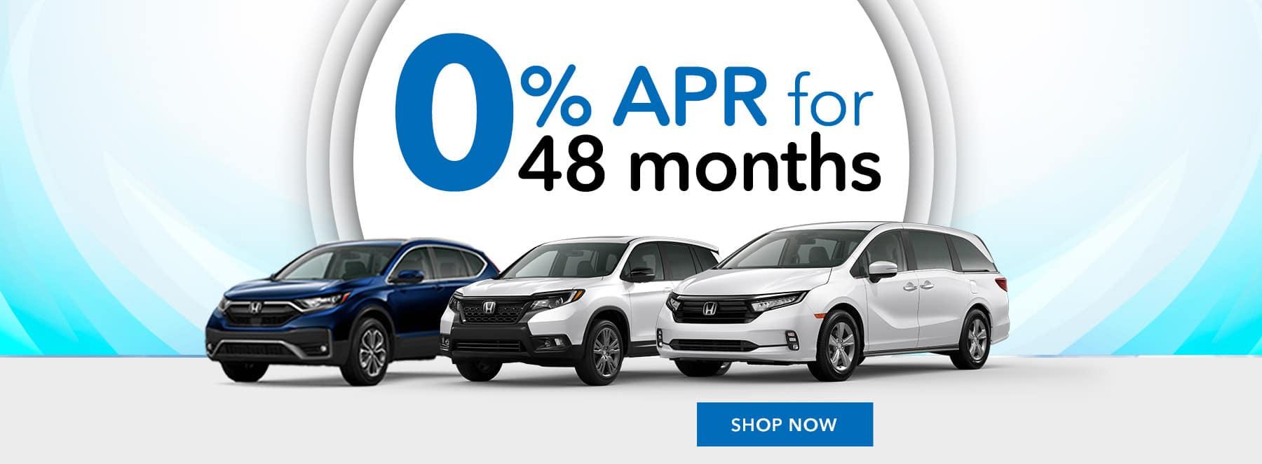 Honda 0% APR for 48 months