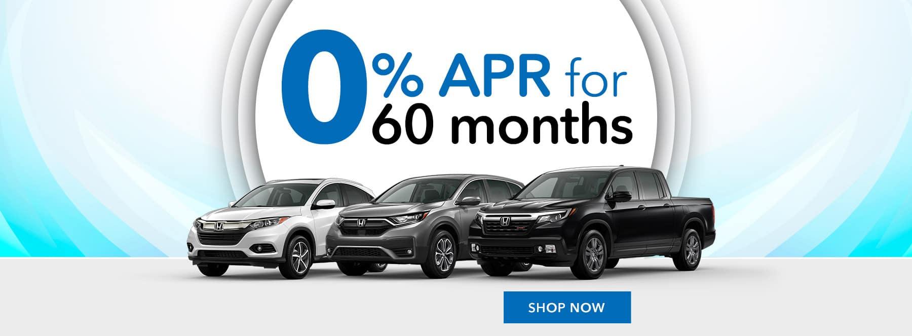 Honda 0% APR for 60 months