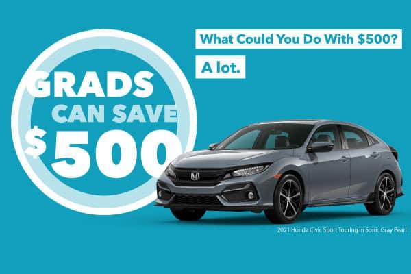 Honda College Grad Program - Grads Can Save $500 at Victory Honda of Ontario