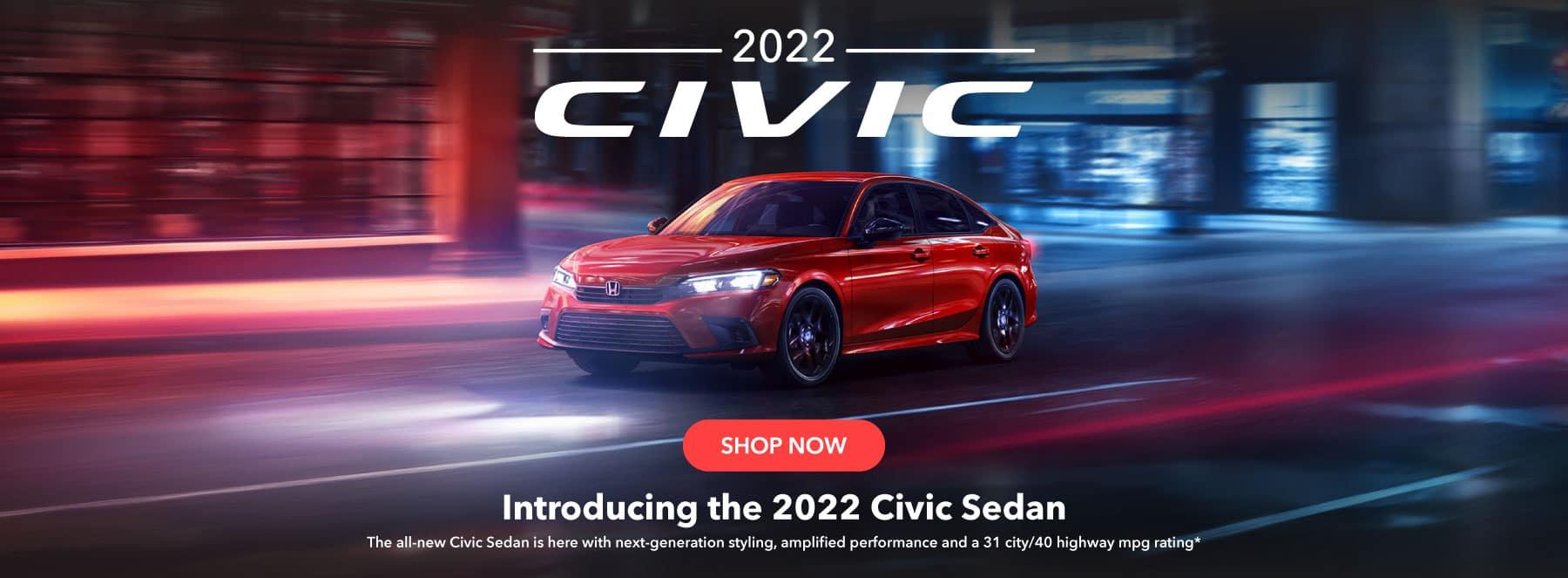 Introducing the 2022 Civic Sedan