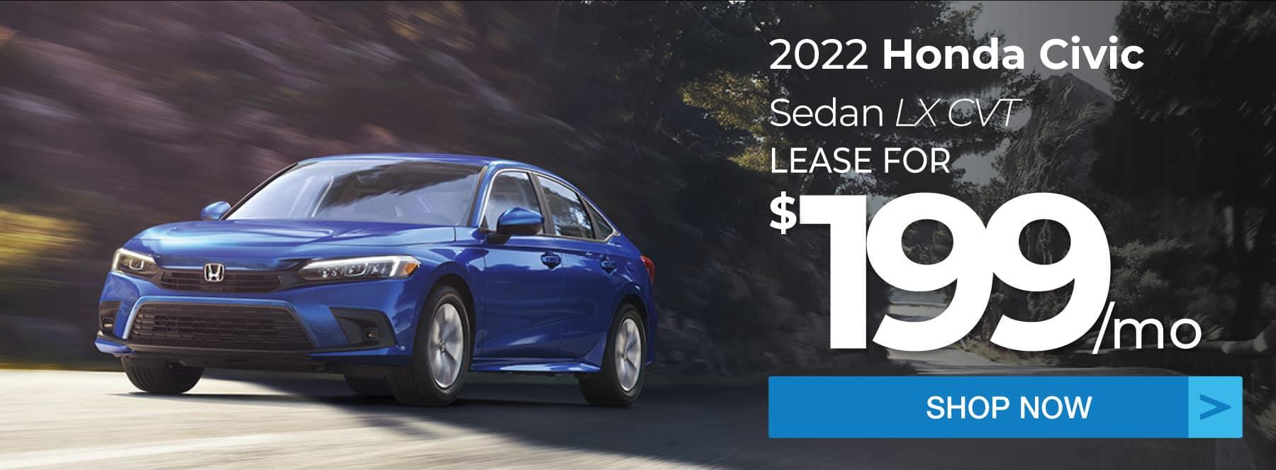 2022 Honda Civic Sedan LX Lease