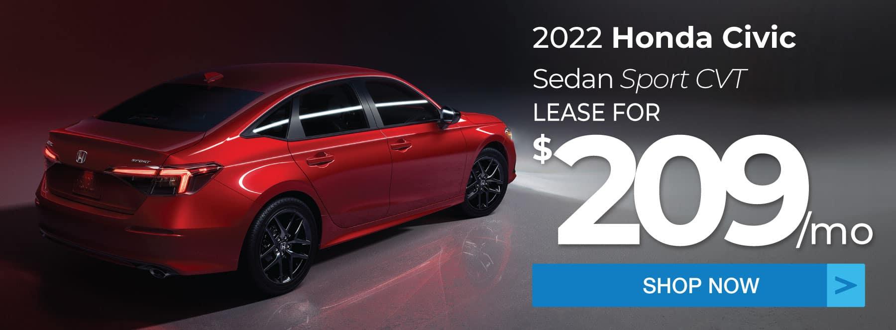 2022 Honda Civic Sedan Sport Lease