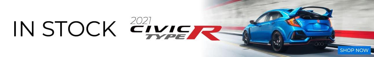 2021 Honda Civic Type R in stock at Ocean Honda of Weymouth