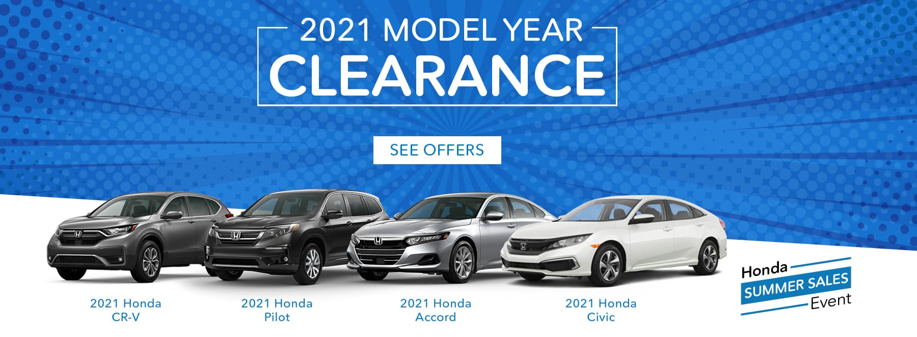 2021 Honda Model Year Clearance