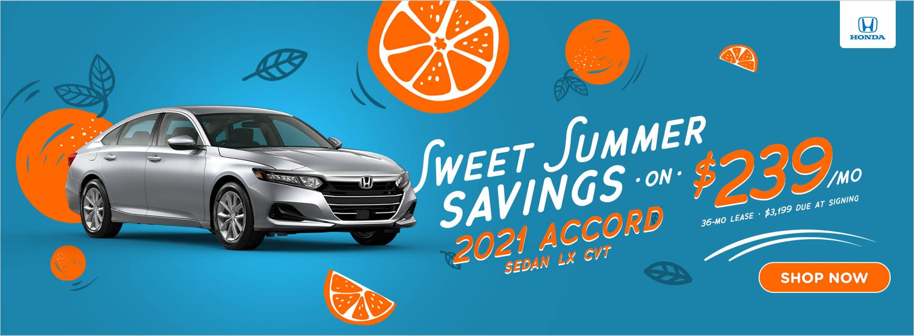 Sweet Summer Savings 2021 Accord LX - $239/mo