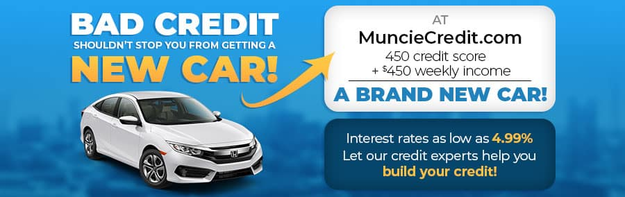 Bad credit shouldn't stop you from getting a new car - 450 credit score & $450 a week income equals a new car