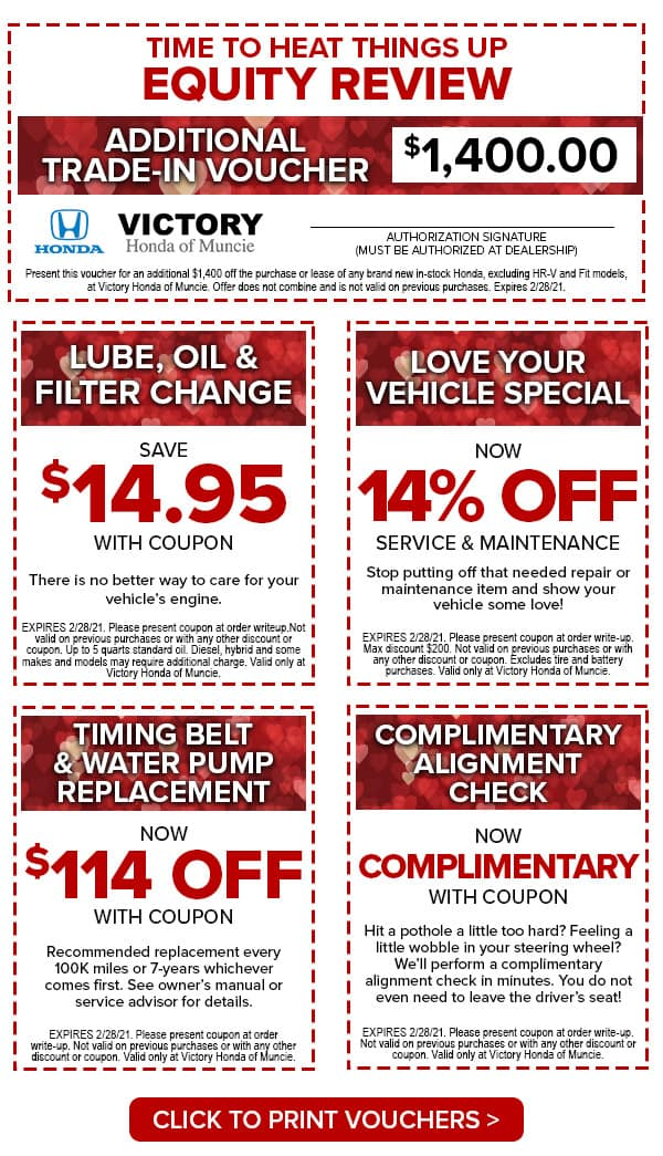 Victory Honda of Muncie Valentines Shopping Voucher